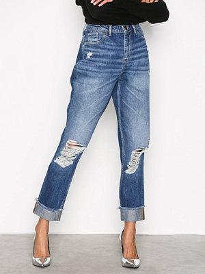 Only onlTAYLOR Hw Boyf Dnm Jeans RIM3808 Blå