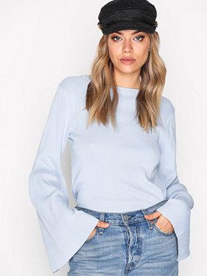 NLY Trend Wide Sleeve Knit Ljus Blå