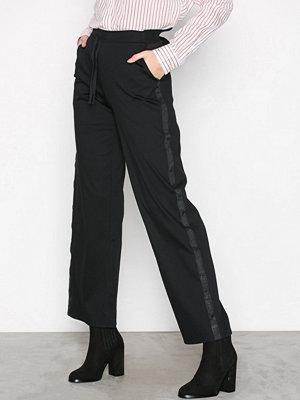 Maison Scotch svarta byxor Wide Leg Sweat Pants Club Nomade Black