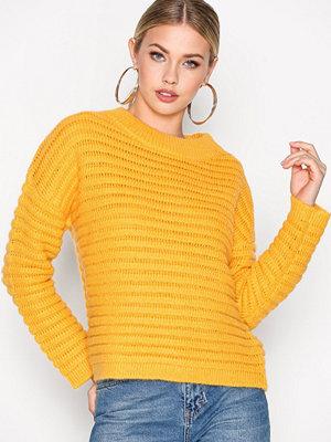 Selected Femme Sfbila Ls Knit O-Neck Orange