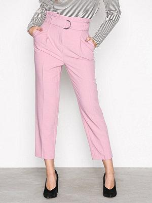 Topshop omönstrade byxor Paperwaist Pants Pink