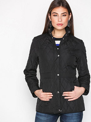 Lauren Ralph Lauren Waist Quilt Coat Black
