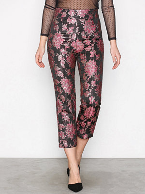 For Love & Lemons mönstrade byxor Luella Cigarette Pant Metallic