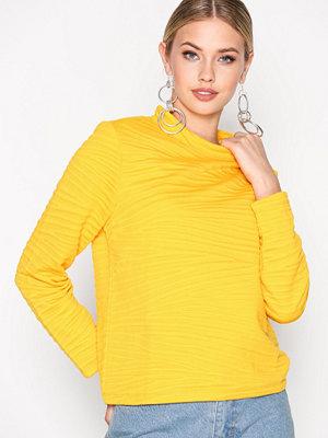 Selected Femme Sfmyan Ls Highneck Sweat Orange