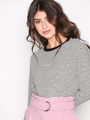Topshop Romantic Striped T-Shirt Monochrome