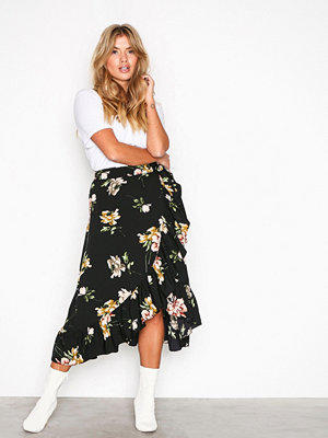 Y.a.s Yasjaco Wrap Skirt Svart