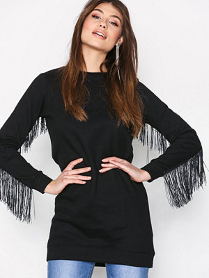 New Look Fringe Sweat Dress Black
