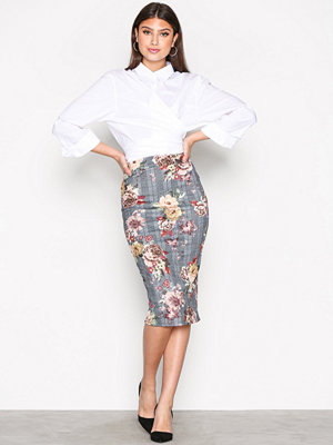 NLY One Check Pencil Skirt Rutig