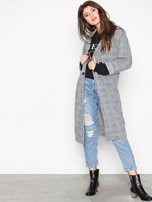 Topshop Checked Duster Coat Multi