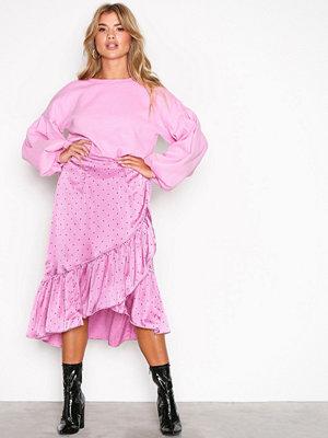 Vero Moda Vmhenna Satin Dot Wrap Blk Skirt Fd Ljus Lila