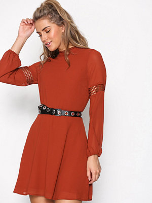 New Look Balloon Sleeve Dress Chestnut