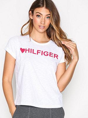 Pyjamas & myskläder - Tommy Hilfiger Underwear Slogan Tee Vit
