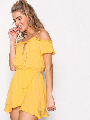 River Island Wrap Front Dress Yellow