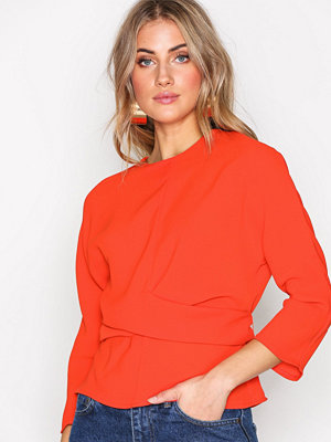 Topshop Tie Wrap Twist Top Red