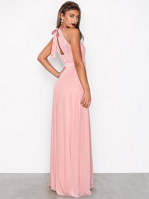 NLY Eve Seethrough Bow Gown Rose