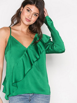 NLY Trend One Sleeve Fancy Blouse Grön