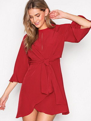 Topshop Knot Front Mini Shift Dress Red
