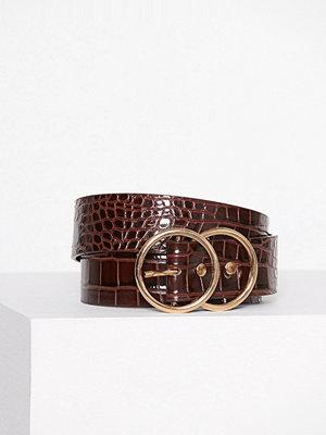 Bälten & skärp - River Island Double Ring Jeans Belt Light Brown
