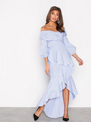 NLY Trend Frill High Low Dress Randig