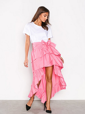 NLY Trend Frill High Low Skirt Rosa