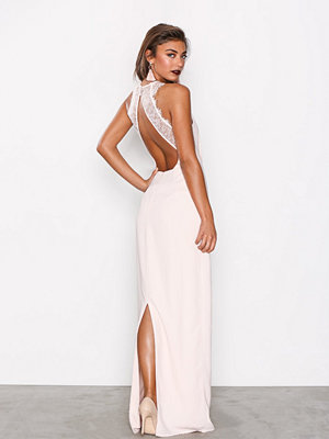 NLY Eve Maxi Crepe Gown Ljus Rosa