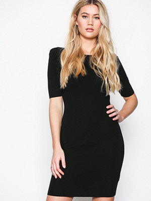 New Look Puff Sleeve Bodycon Dress Black