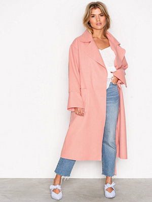 NLY Trend Wrapped Long Coat Rosa
