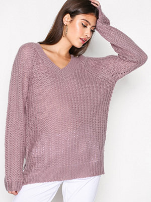 NLY Trend Loose Soft Knit Sweater Ljus Lila