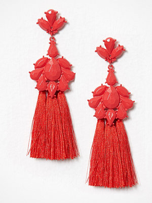 River Island örhängen Short Tassel Dangles Red