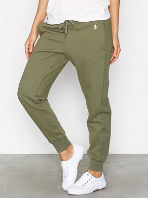 Polo Ralph Lauren omönstrade byxor Straight Fleece Wide Fit Pant Green