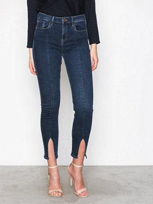 River Island Fashion Split Jeans Dark Blue