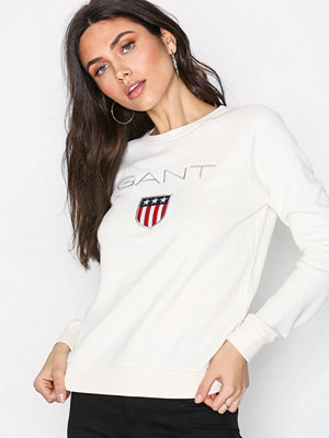 Gant Shield Logo C-Neck Sweat Offwhite