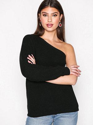 NLY Trend One Shoulder Knit Svart