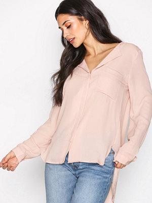Selected Femme Slfdynella Ls Shirt Noos Ljus Rosa