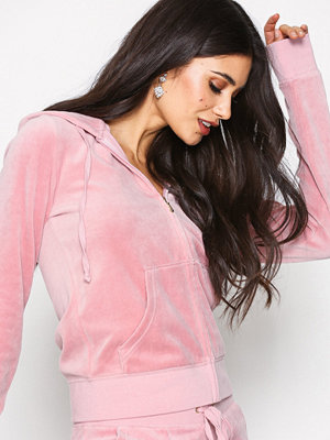Street & luvtröjor - Juicy Couture Velour Robertson Jacket Dusty Pink