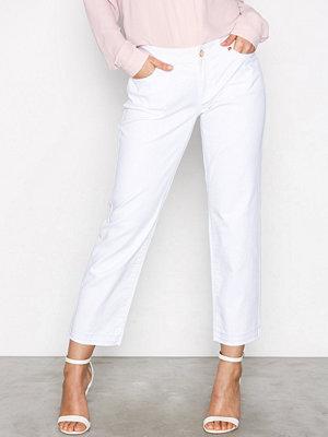 MICHAEL Michael Kors vita byxor Released Hem Straight Pant White