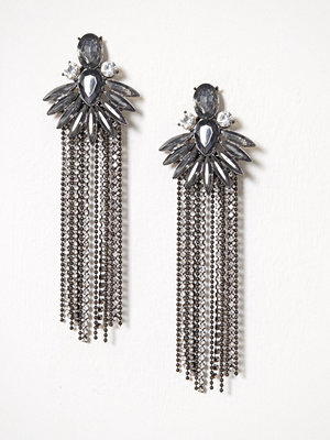 River Island örhängen Cupchain Tassel Earrings Gunmetal