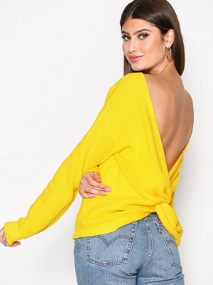NLY Trend Tie Back Knit Sweater Gul