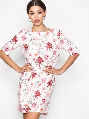 Only onlBARBARA 2/4 Short Dress Wvn White/Pink