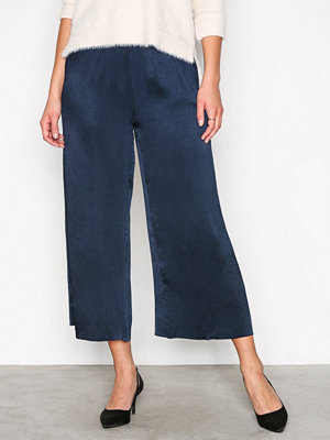 Glamorous marinblå byxor Pleated Pants Navy