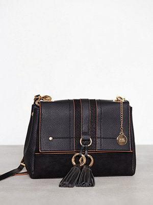 River Island svart axelväska Folder Crossbody Bag Black