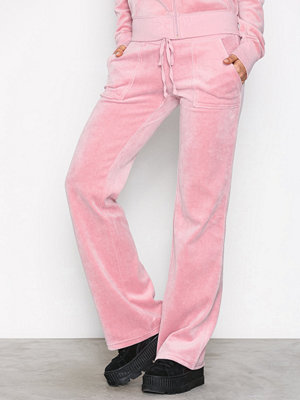 Juicy Couture gammelrosa byxor Velour Del Rey Pant Dusty Pink