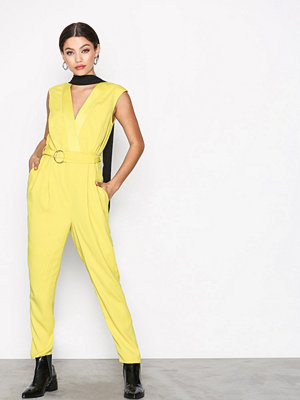 River Island Tailored Jumpsuit Yellow