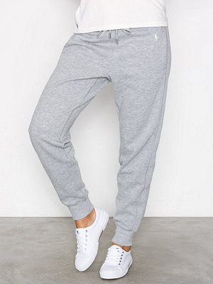 Polo Ralph Lauren ljusgrå byxor Straight Fleece Wide Fit Pant Grey