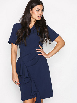Closet Asymmetric Pleated Dress Navy