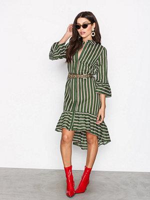 Vila Vikailey 3/4 Sleeve Shirt Dress Mörk Grön