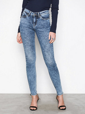 Vero Moda Vmseven Nw Ss Piping Jeans AM691 No Blå