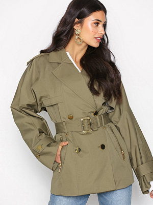 MICHAEL Michael Kors Short Wide Trench Safari