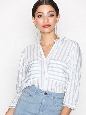 Vero Moda Vmerika Stripe 3/4 Shirt E10 Noos White/Blue