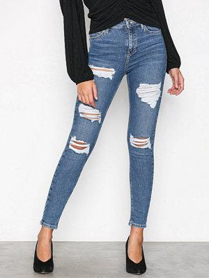 Topshop MTD Skinny Rip Jeans Denim